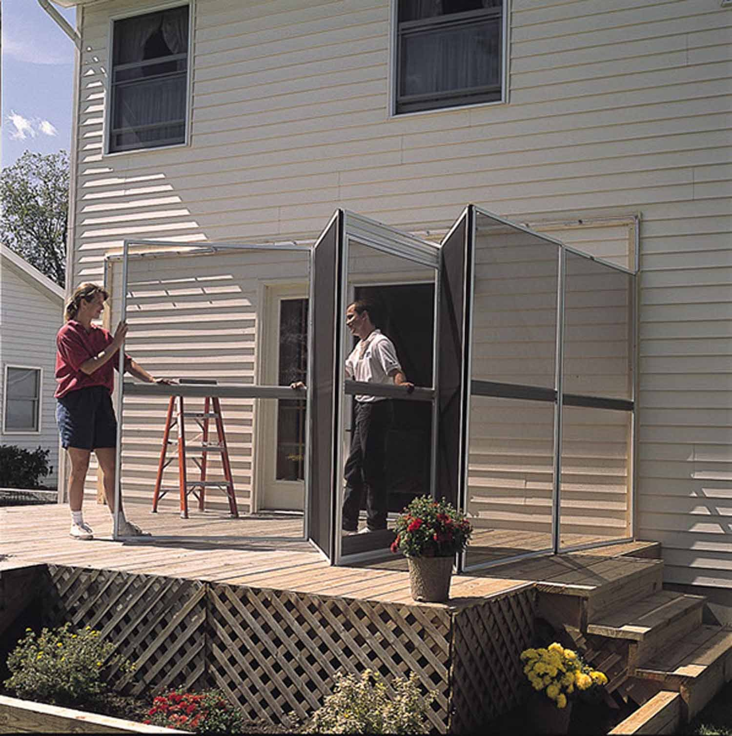 Patio Mate 12-Panel Screen Enclosure 29122, White with Gray Roof by PatioMate (Image #3)