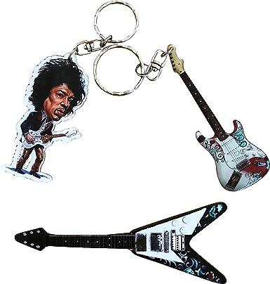 Jimmy Hendrix llaveros e imán para nevera – incluye 1 llavero de ...