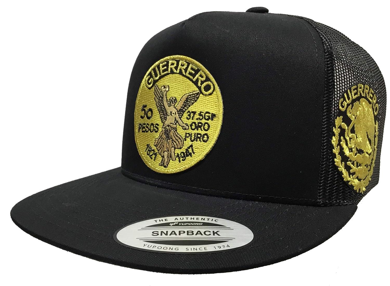Centenario de Guerrero Logo Federal a Lado 2 Logos Hat Black mesh