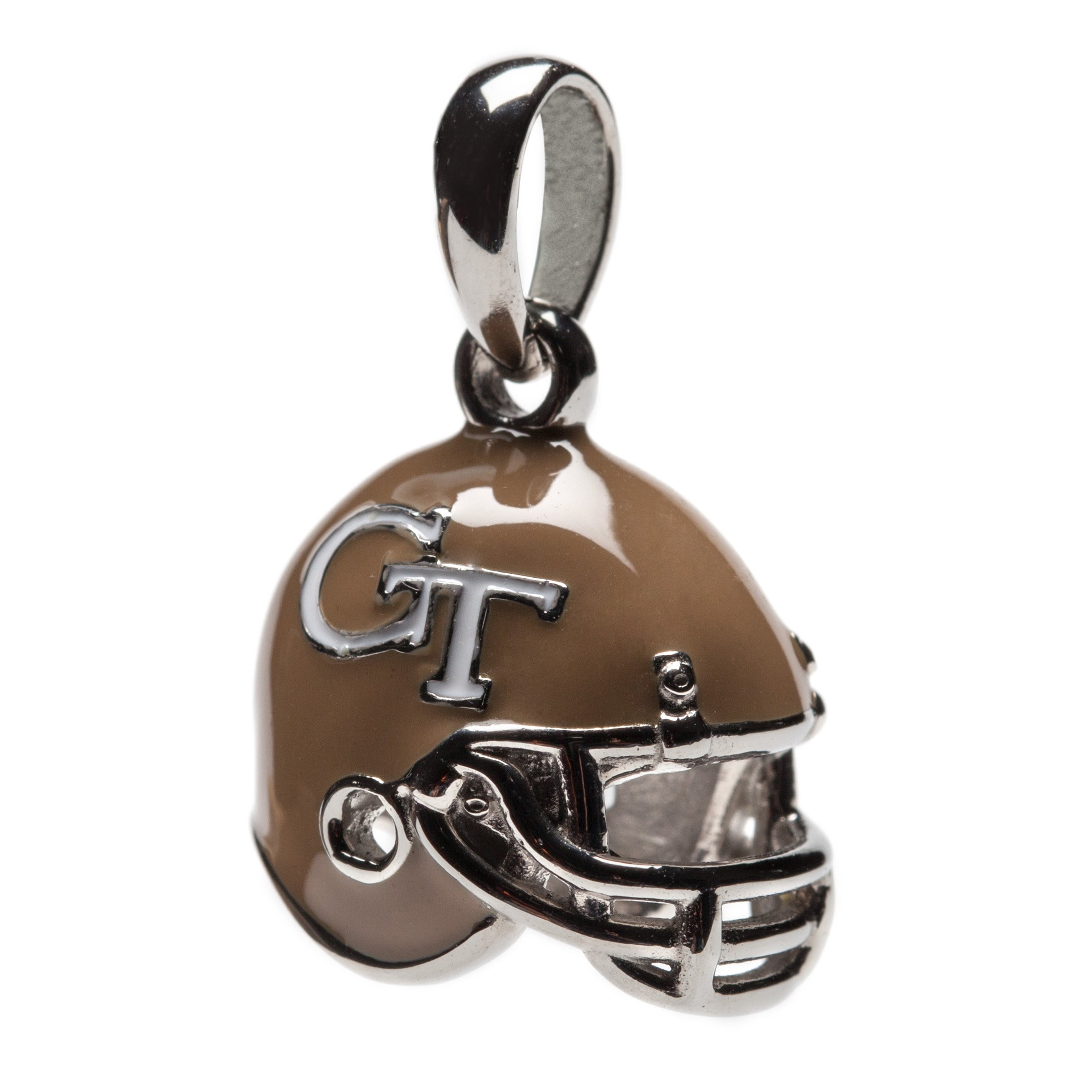 Georgia Tech Charm | GT Yellow Jackets - 3-D GT Football Helmet Charm | Officially Licensed Georgia Tech Jewelry | GT Gifts | Georgia Tech Football | Georgia Tech Ramblin Wreck | Stainless Steel by Stone Armory
