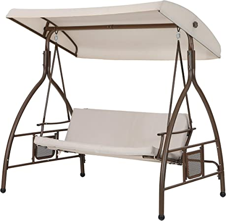 Garden Swing Chair with Canopy