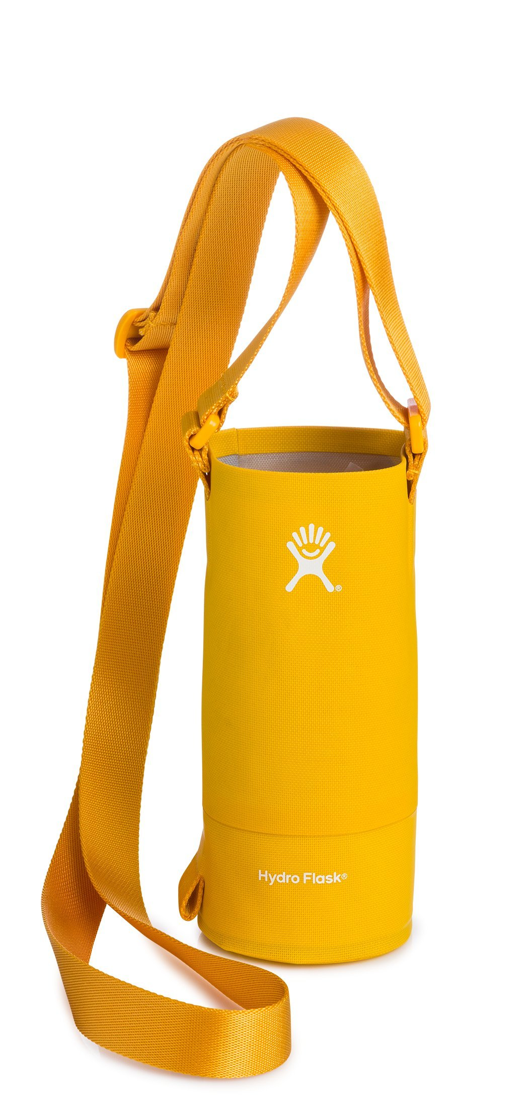 Hydro Flask Small Soft Sided Nylon Tag Along Water Bottle Sling with Pockets, Golden Rod (Fits 12 oz, 18 oz, 21 oz, and 24 oz Bottles)