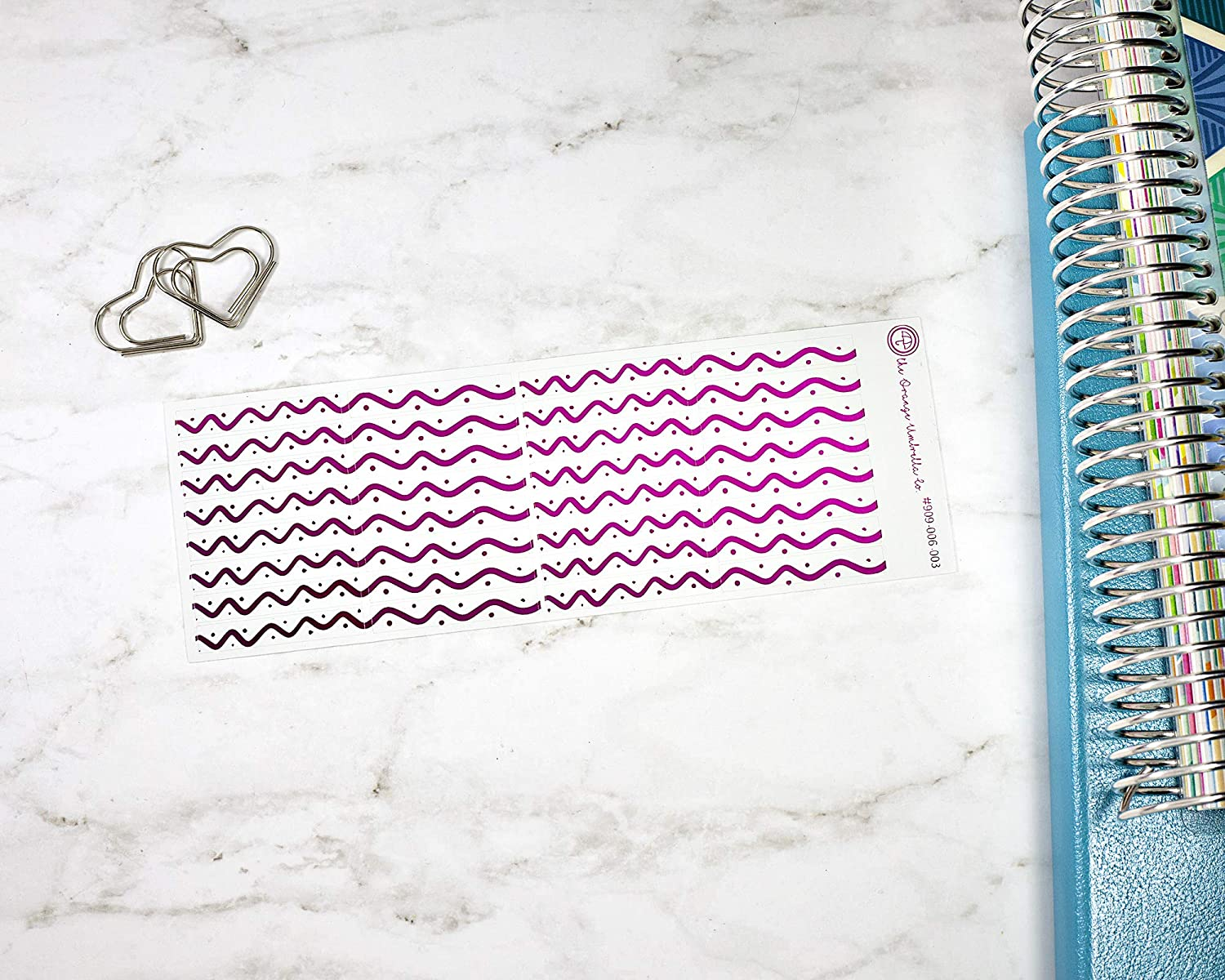 #909-006-003-F Abstract Line Foil Color Foil Divider Stickers for ECLP Foiled Header Planner Stickers