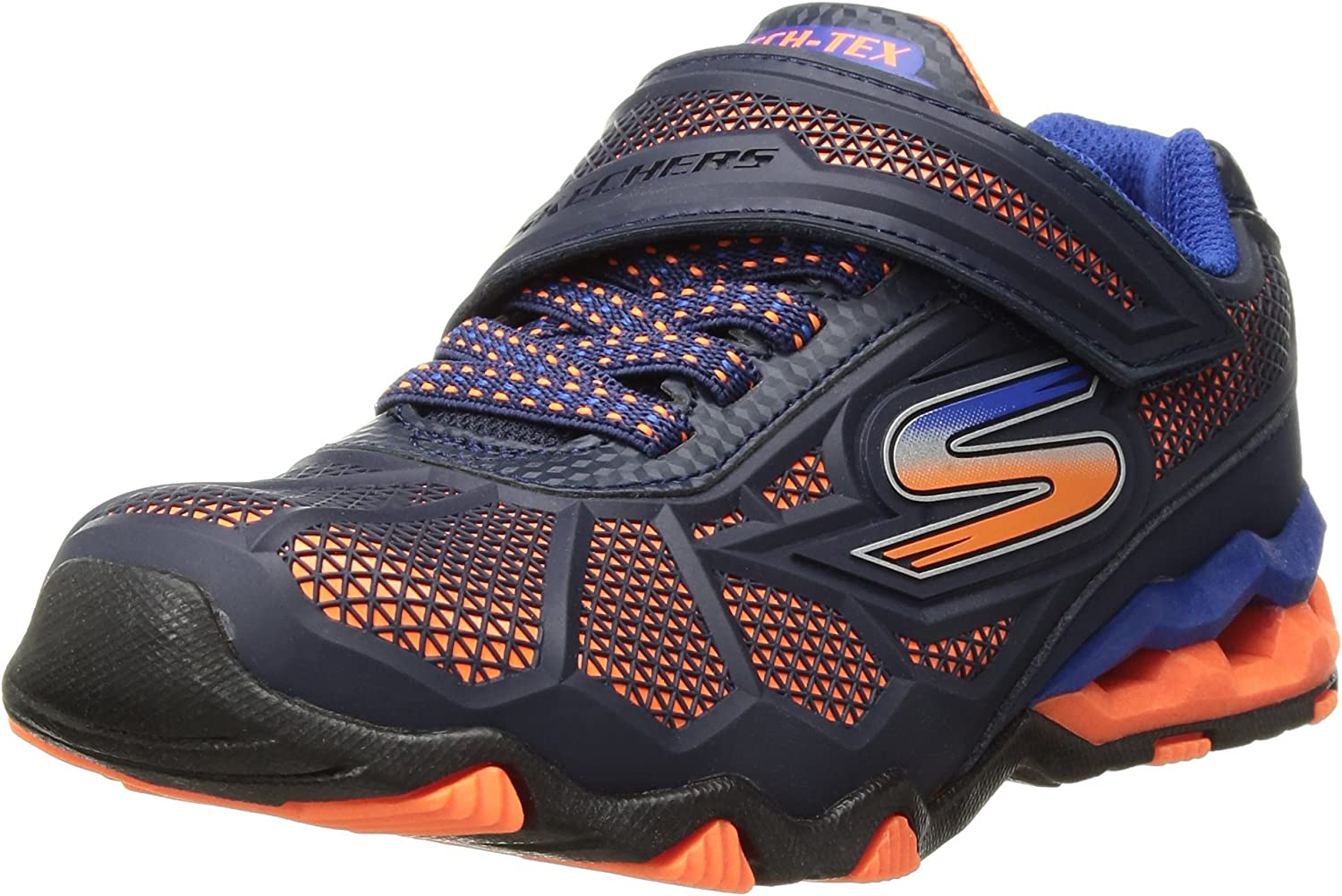 Skechers Kids Powered Erupters II Light Up Sneaker Pre//Grade School Size 1 Navy Blue