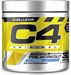 C4 Original Pre Workout Powder ICY Blue Razz - Vitamin C for Immune Support - Sugar Free Preworkout Energy for Men & Women -