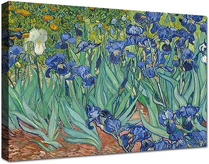 Canvashop Quadri Moderni Cm 100x70 Stampa Su Tela Canvas Van Gogh Iris Quadro Soggiorno Xxl Amazon It Casa E Cucina