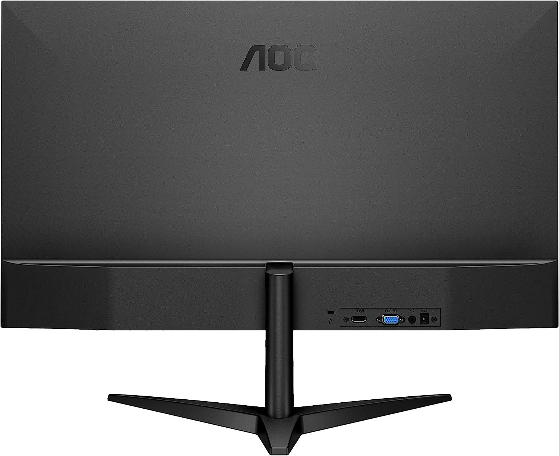 """AOC 22B1HS - Monitor sin Bordes de 21.5"""" FHD (1920x1080, 60 Hz, 5 ms, 250 CD/m², IPS Sin Bordes, Flicker Free y Low Blue Light, VGA, HDMI) Color Negro: Aoc: Amazon.es: Informática"""