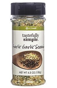 Tastefully Simple Garlic Garlic Seasoning Blend, No MSG, All Natural, No Preservatives and Kosher - 4.5 oz