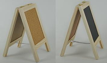 Dual pie Cartel de pizarra y caballete de madera tablón de ...