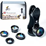 Cell camera lens kit-Telephoto lens kit 5 in1-Professional HD smartphone lens-Cell phone camera lens for Android, iPhone, Samsung, Tablets-iPhone lens-Travel Camera by VENYN