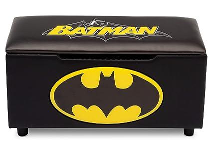 a0083c2de8 Amazon.com  DC Comics Batman Upholstered Storage Bench for Kids ...