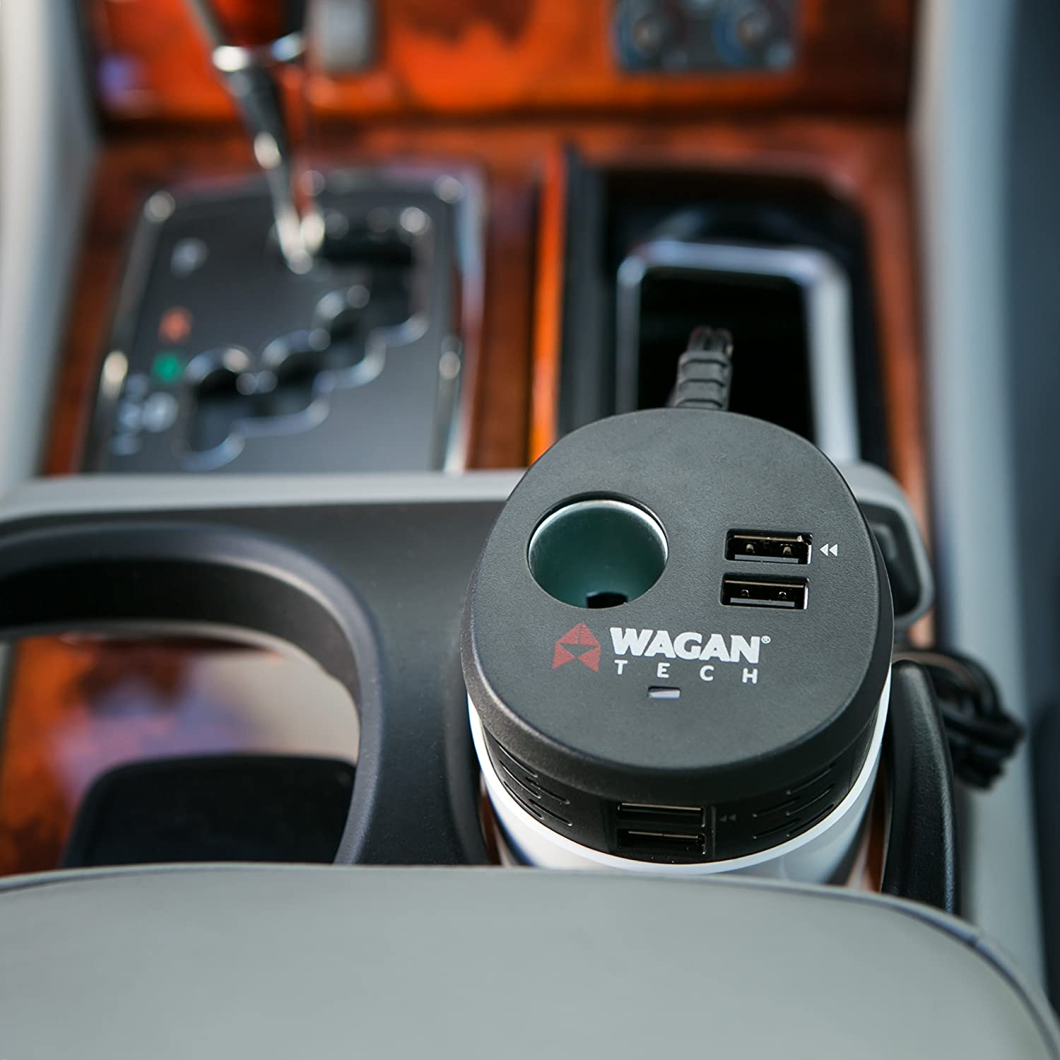 Wagan Travel Charge Series USB 6.2 Amp Quad Power Cup 12V DC and USB power ports EL2886