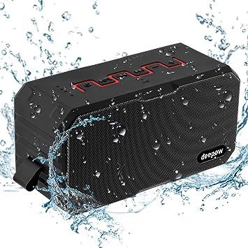 Deepow 10W Enceinte Bluetooth Speaker Puissante /étanche IP67 3000mAh Compatible Android iPhone TV et Autres Appareils Bluetooth Enceinte Bluetooth Haut Parleur Bluetooth Waterproof Sans Fil Portable
