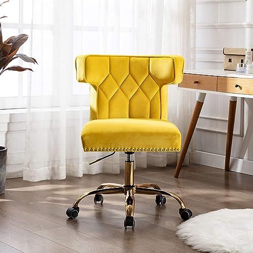 SSLine Home Office Chair,Velvet Desk Chair