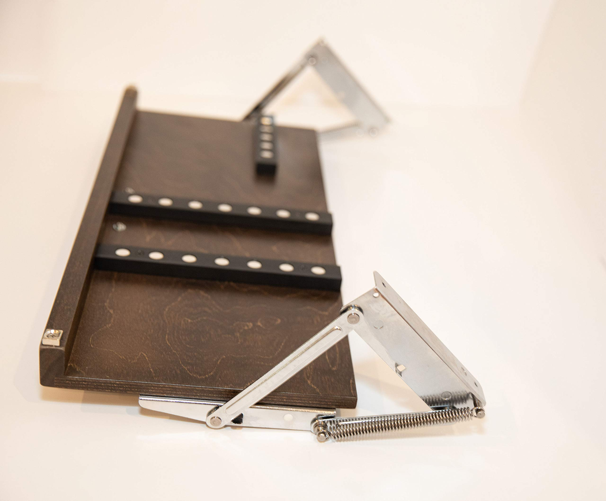 Under Cabinet Knife Block - Large Shown - 3 Sizes Available & 5 Finishes (X-Large, Walnut)