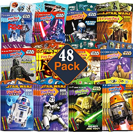 Party Favor Play Pack – Star Wars – 24 paquetes de Mini: Amazon.es ...