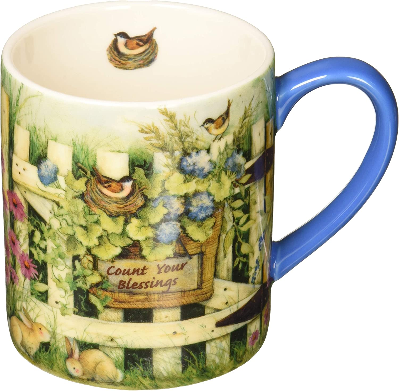 Lang Garden Gate Mug by Susan Winget, 14 oz, Multicolored