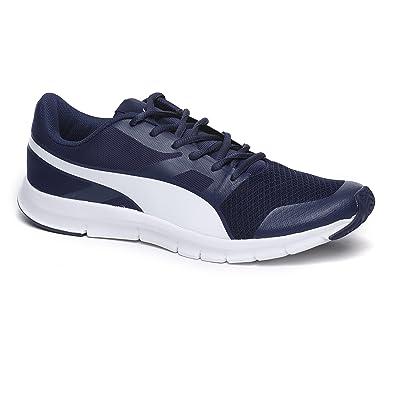 Puma Men s Puma Flexracer Dp Blue Depths-Puma White Running Shoes - 10 UK  24f93f1d2