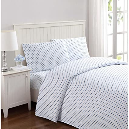 Truly Soft SS2329BLTW-4700 Everyday Printed Dot Sheet Set, Twin, Blue