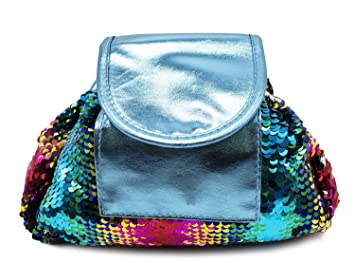 f77980320587 Amazon.com   StylesILove Womens Trendy Lazy Mermaid Sequins Reversible Drawstring  Makeup Cosmetic Pouch (Sequins Multi+Silver)   Beauty