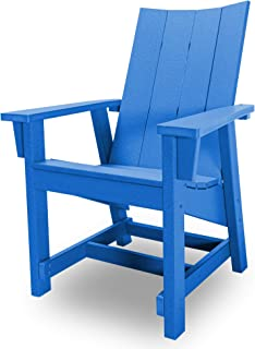 product image for Hatteras Hammocks Blue Conversation Chair, Eco-Friendly Durawood, All Weather Resistance, Fit 'N' Finish Handcrafted in The USA …