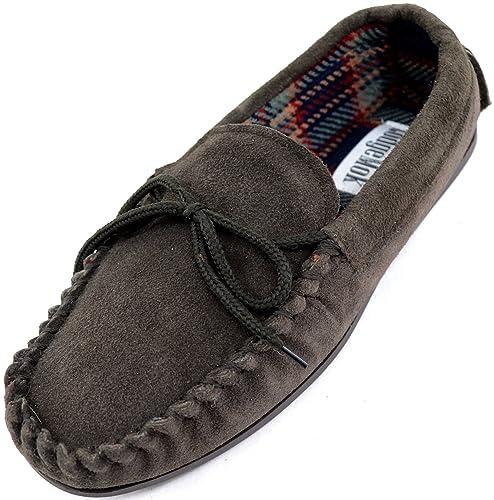 SNUGRUGS - Zapatillas de Estar por casa de Ante para Hombre: Amazon.es: Zapatos y complementos