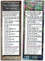 Bible Verse Cards, by eThought - The Ten Commandments - Pack of 25 Bookmark Size Cards (2.75x8.25)