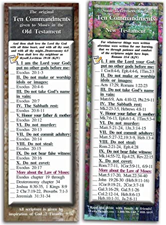 Assorted Pack of 10 Bookmark Size Cards by eThought Bible Verse Cards BB-ASSORTED-10