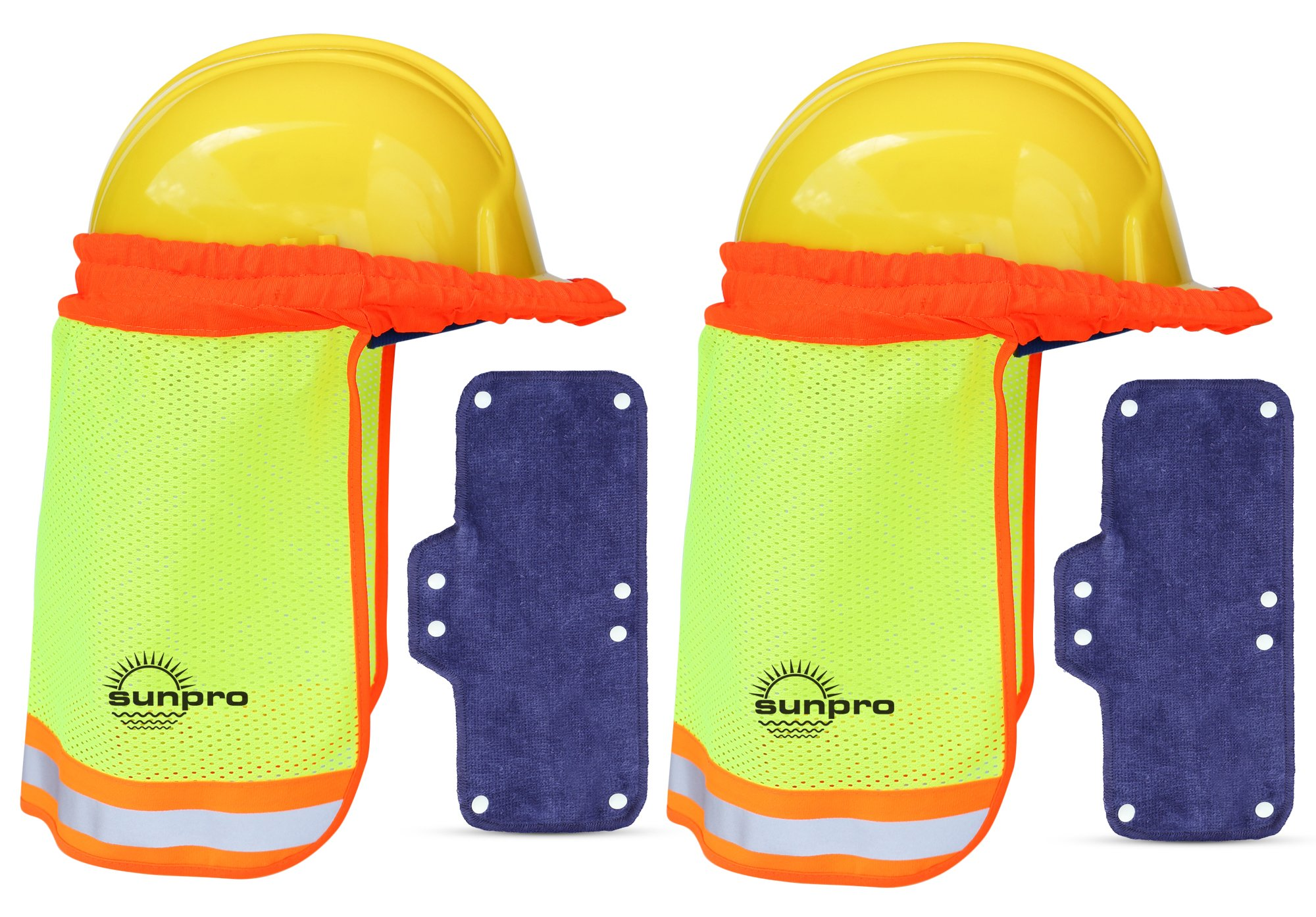 8d30605caa2 Galleon - Hard Hat Sun Shade And Sweatband Set    Hardhat Neck Shade Fits  Regular And Full Brim Construction Helmets (2 Pack)