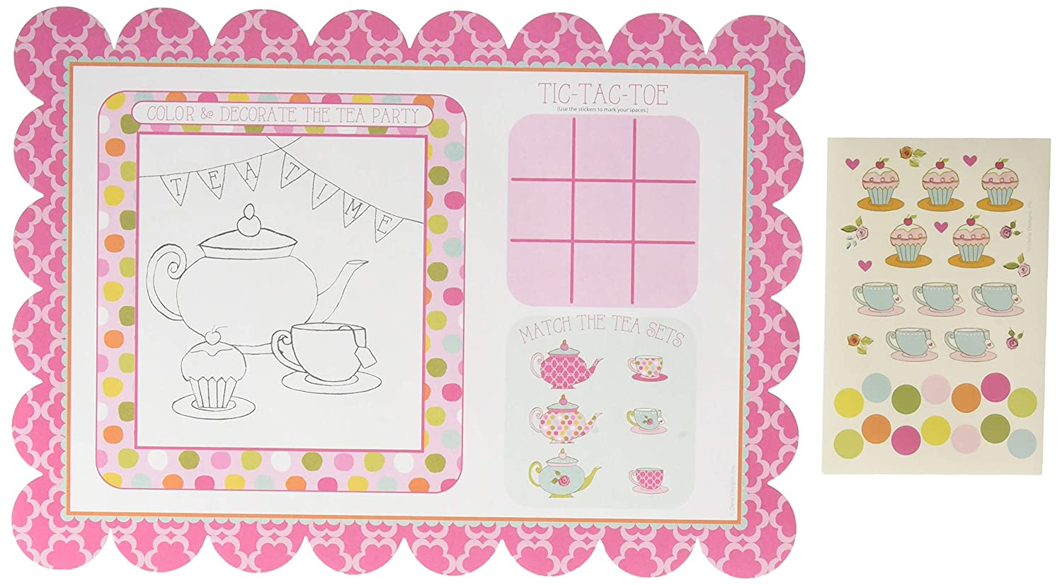 Tea Time Placemats with Activity Stickers 2-Pack