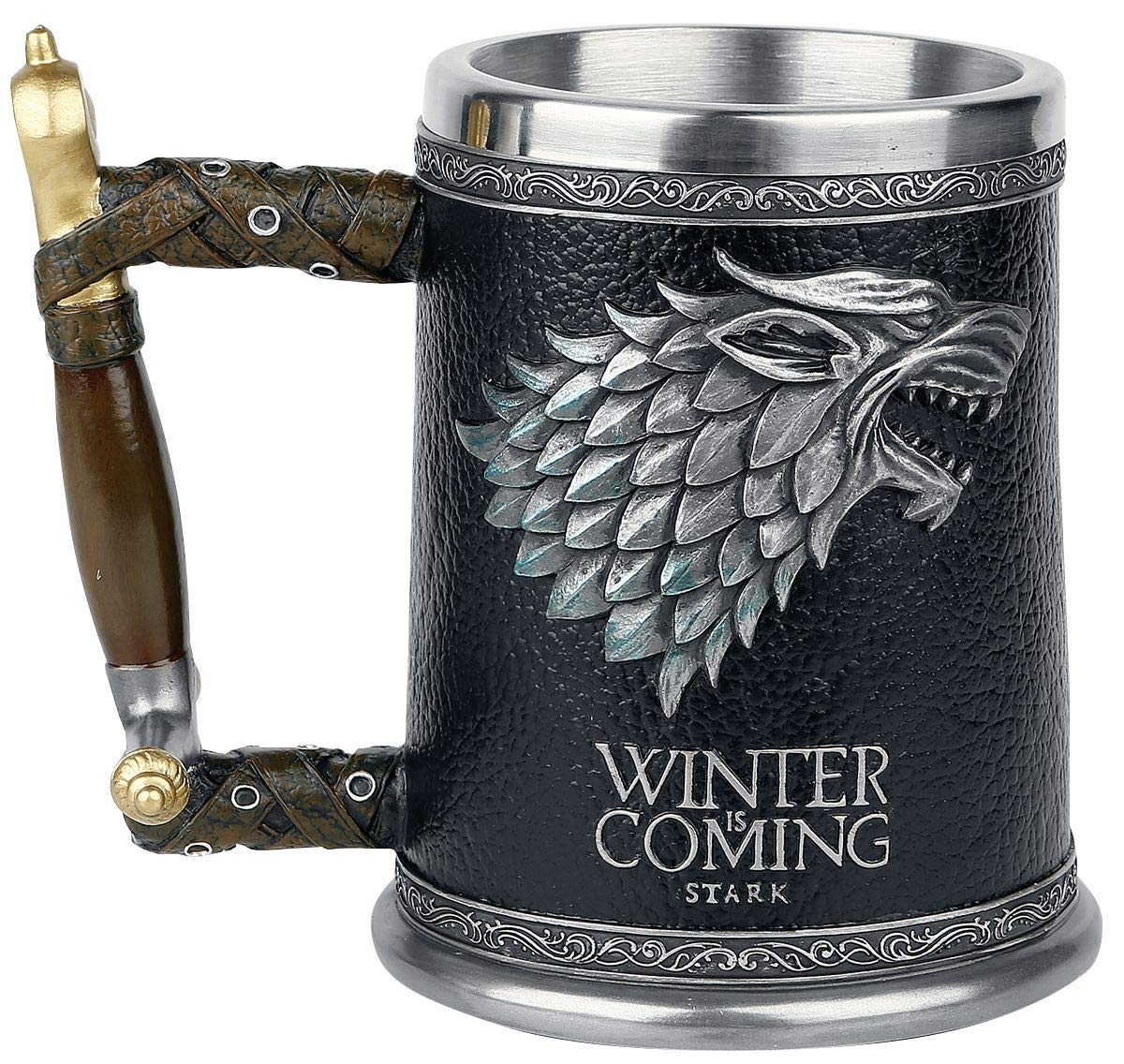 Game of Thrones Wolfs Head Winter is Coming Tankard