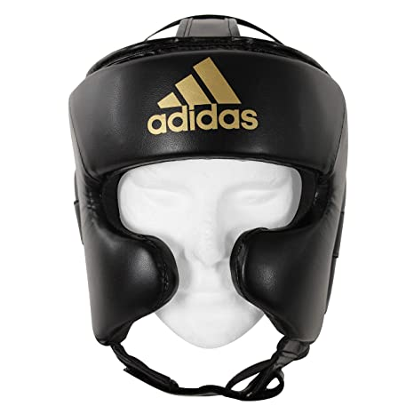 45b006cb2d128 Amazon.com : adidas Full Face Head Gear - Large : Sports & Outdoors