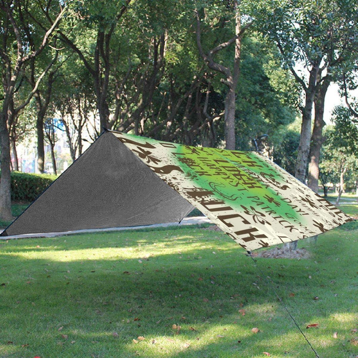 Txc9ds - Tappetino da picnic a due colori, per pappagalli, picnic, parco, spiaggia, campeggio, portatile, impermeabile Giorno del Patrizio delle Tre Foglie