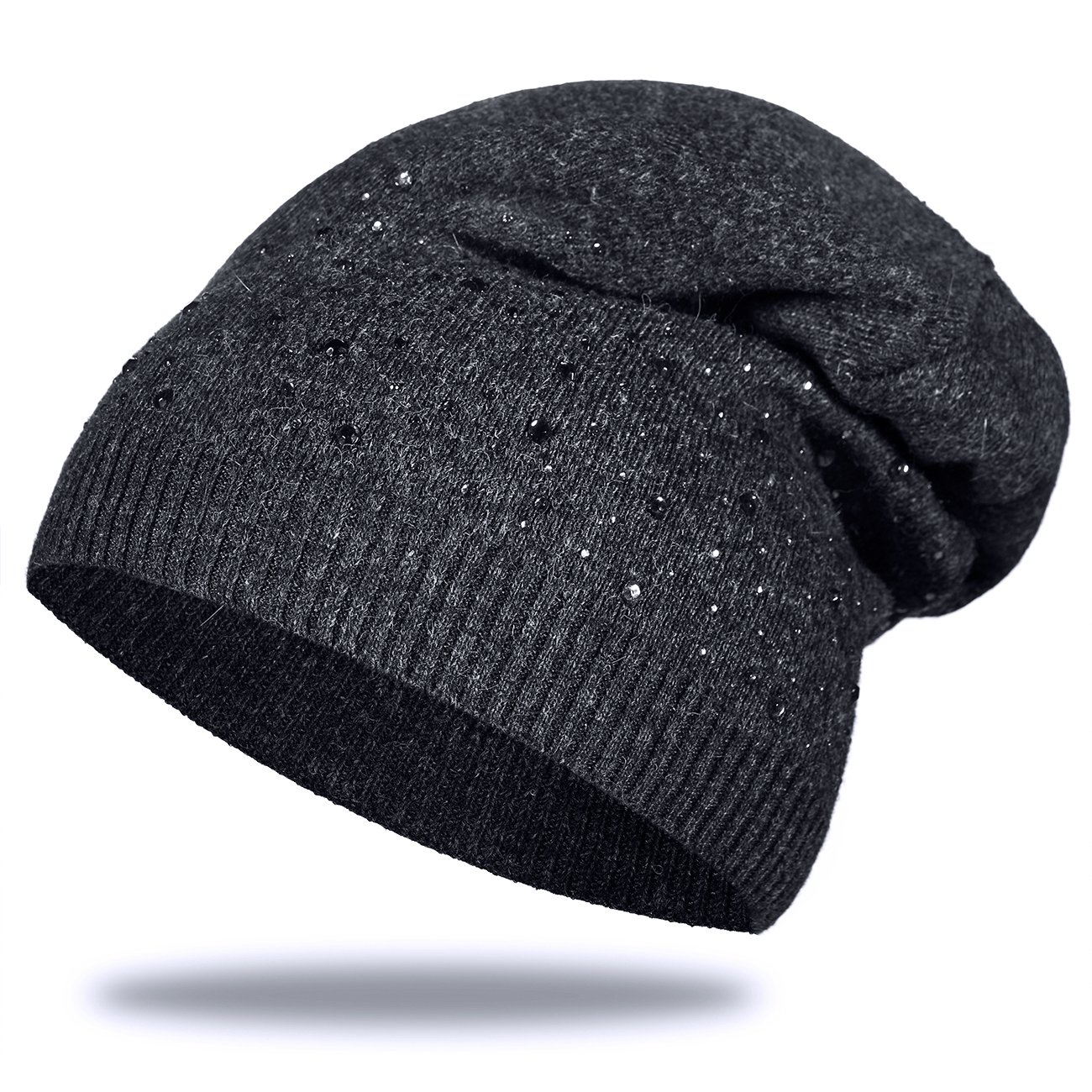 0f0ee5d97e8 Unisex Hat Men Women Glitter Star Printed Knit Beanie  Amazon.co.uk   Clothing