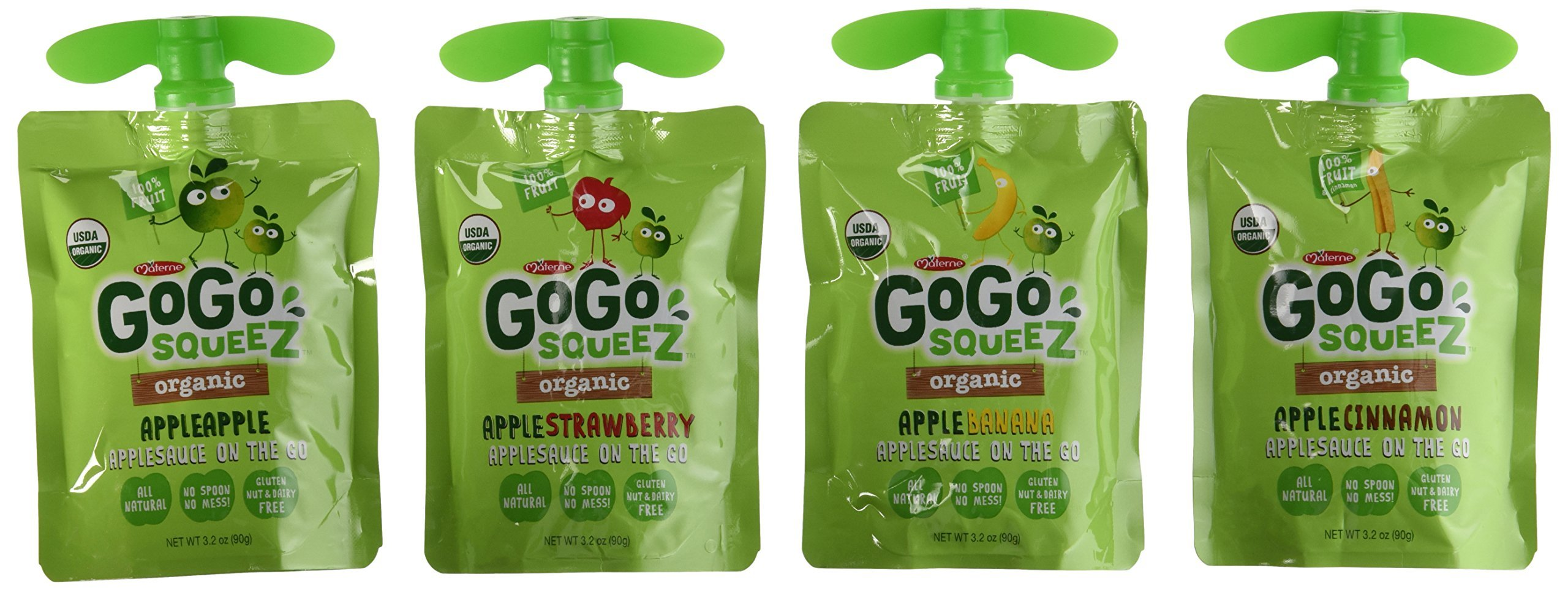 Materne GoGo Squeez Organic Applesauce, Variety Pack, 3.2 oz, 20 ct by Materne (Image #2)
