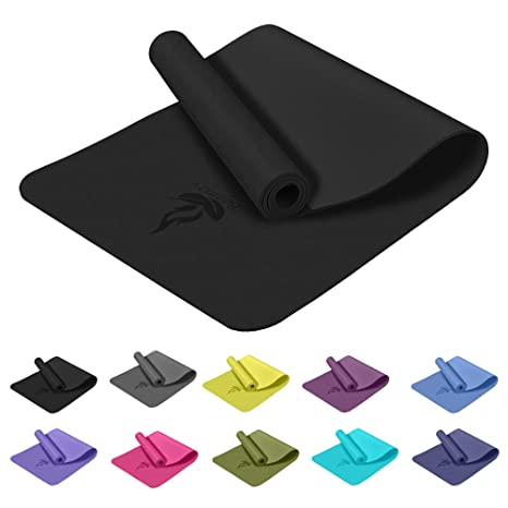 Amazon.com : Baomay Yoga mat with Carry Strap Non-Slip Light ...