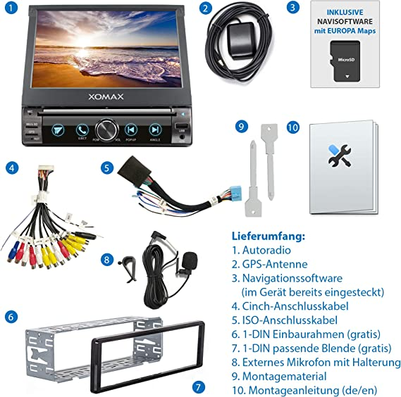 Xomax Xm Dn763 Autoradio Mit Mirrorlink Gps Amazon De Elektronik