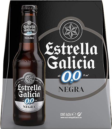 Estrella Galicia 0,0 Negra. Pack De 6 X 25Cl.: Amazon.es: Alimentación y bebidas