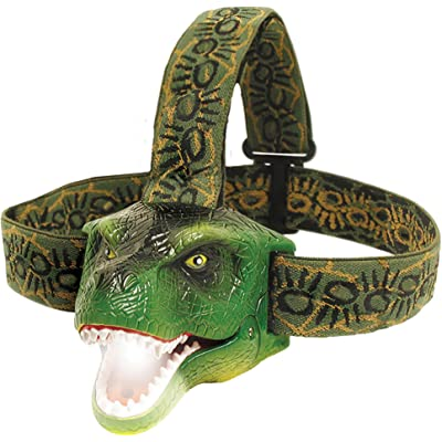 Sun Company DinoBryte - Linterna Frontal LED T-Rex para niños, Sonido Realista Rugido