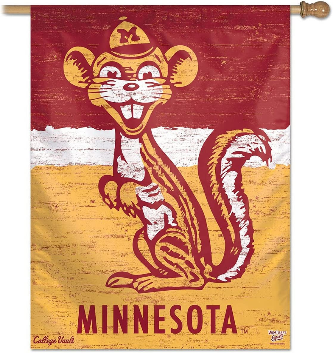 Minnesota Golden Gophers Official NCAA 27x27 Banner Flag by Wincraft