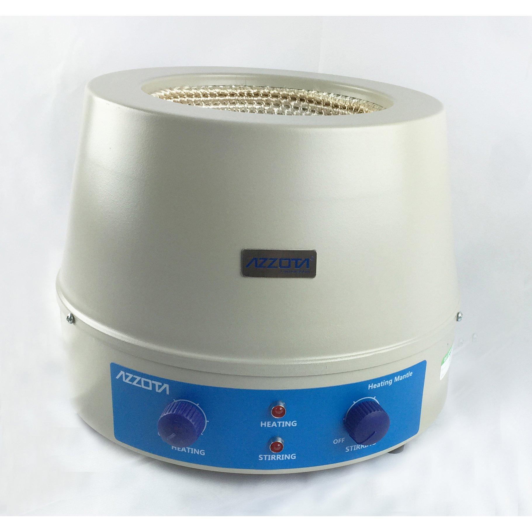 Azzota SHM-1000, Stirring Heating Mantle - 1000ml, 350W, Stir speed: 0 to 1400rpm, Maximum temperature 420C (790F) by Azzota