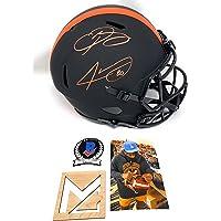$299 » Odell Beckham Jr Jarvis Landry Cleveland Browns Signed Autograph RARE ECLIPSE Full Size Speed Helmet Beckett Witnessed…