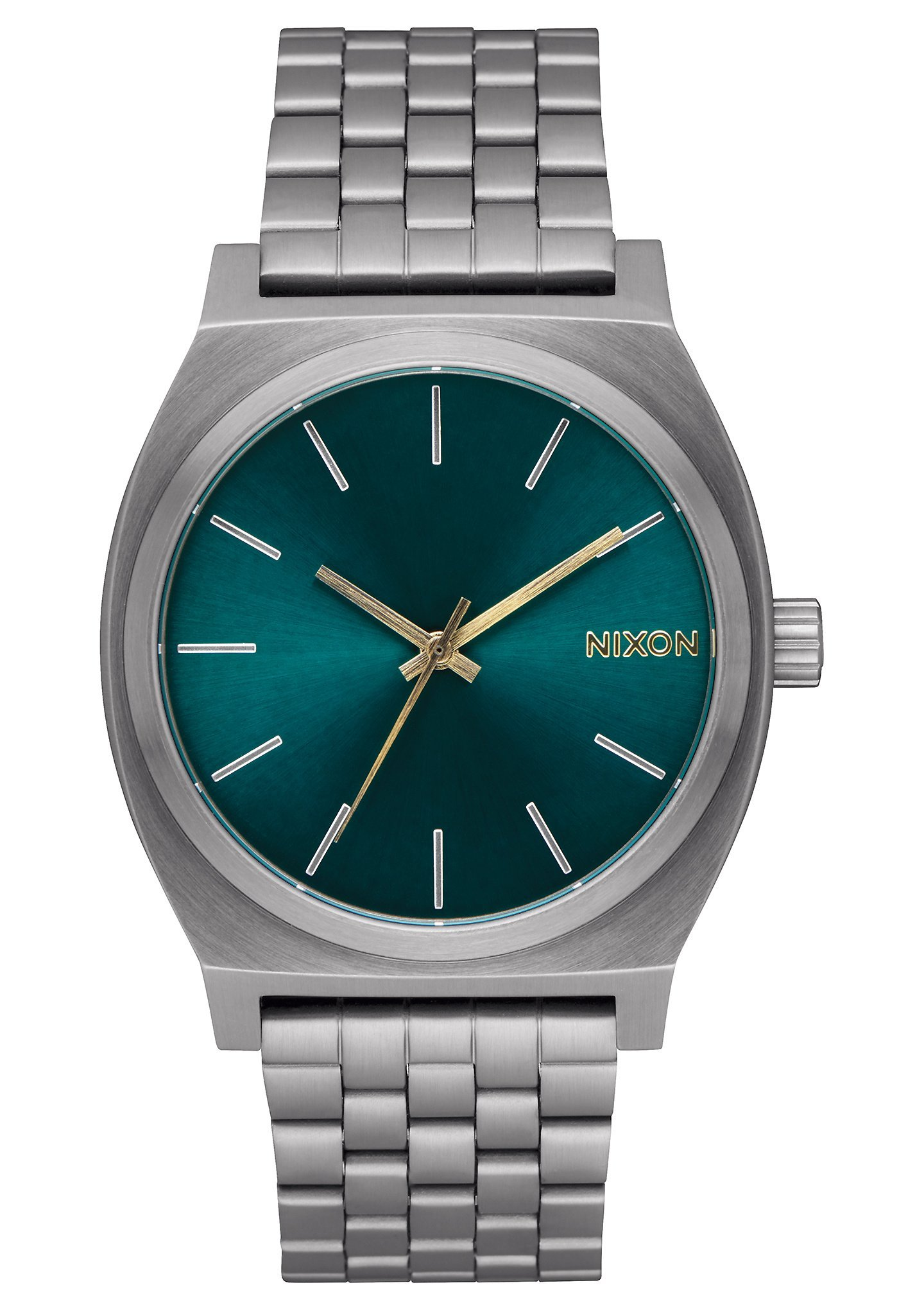 Nixon Unisex Time Teller Gunmetal/Spruce/Brass One Size by NIXON