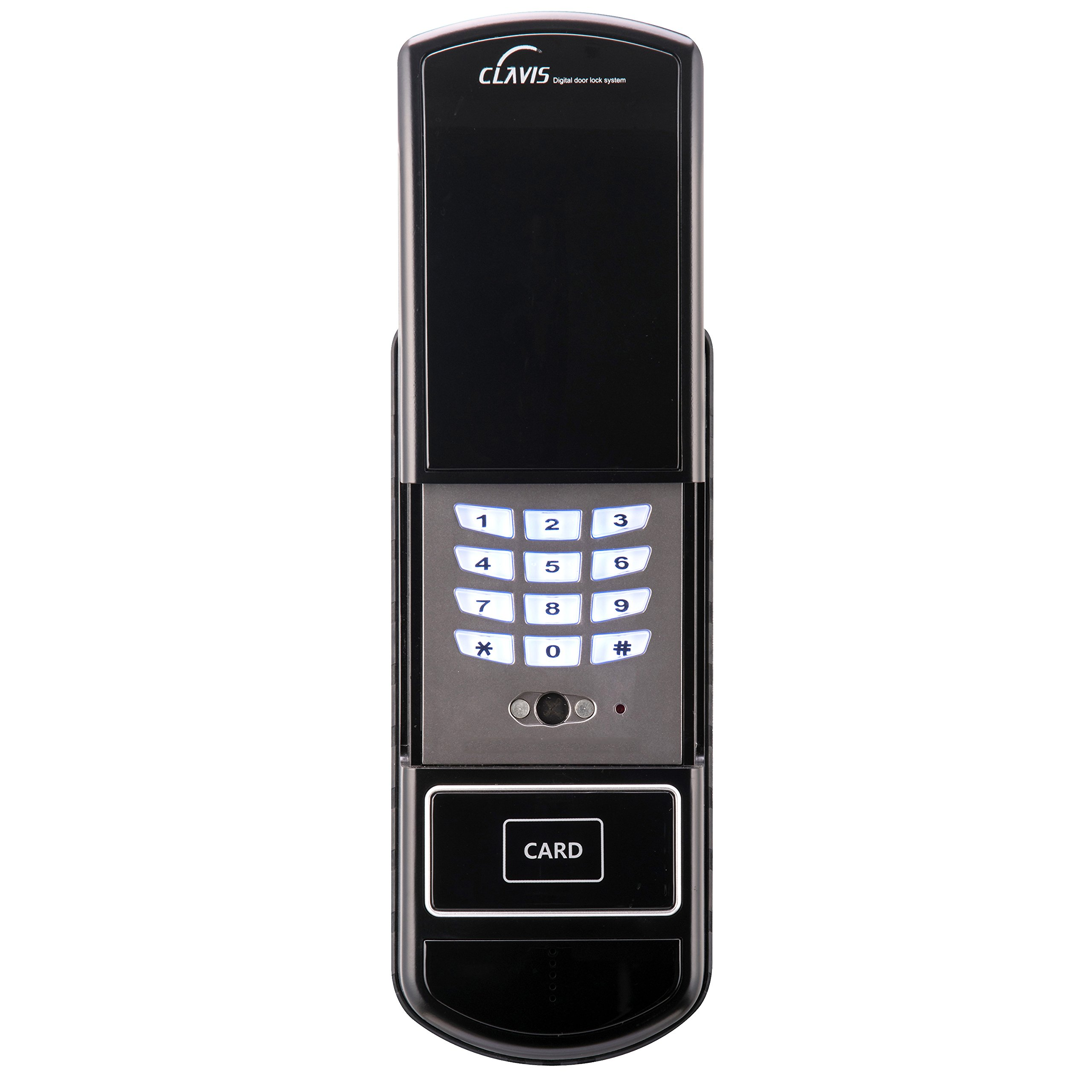 HSI LV-300BK Smart Digital Door Lock-Wireless Home Entry with Your Card Key, Black