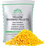Beeswax Pellets 1 lb, Yellow, Pure, Natural, Cosmetic Grade, Bees Wax Pastilles, Triple Filtered, Great For DIY Projects, Lip