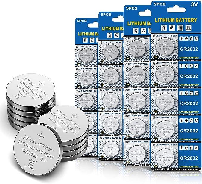 20 Stück Cr2032 3v Lithium Knopfzelle Elektro Cr 2032 Elektronik