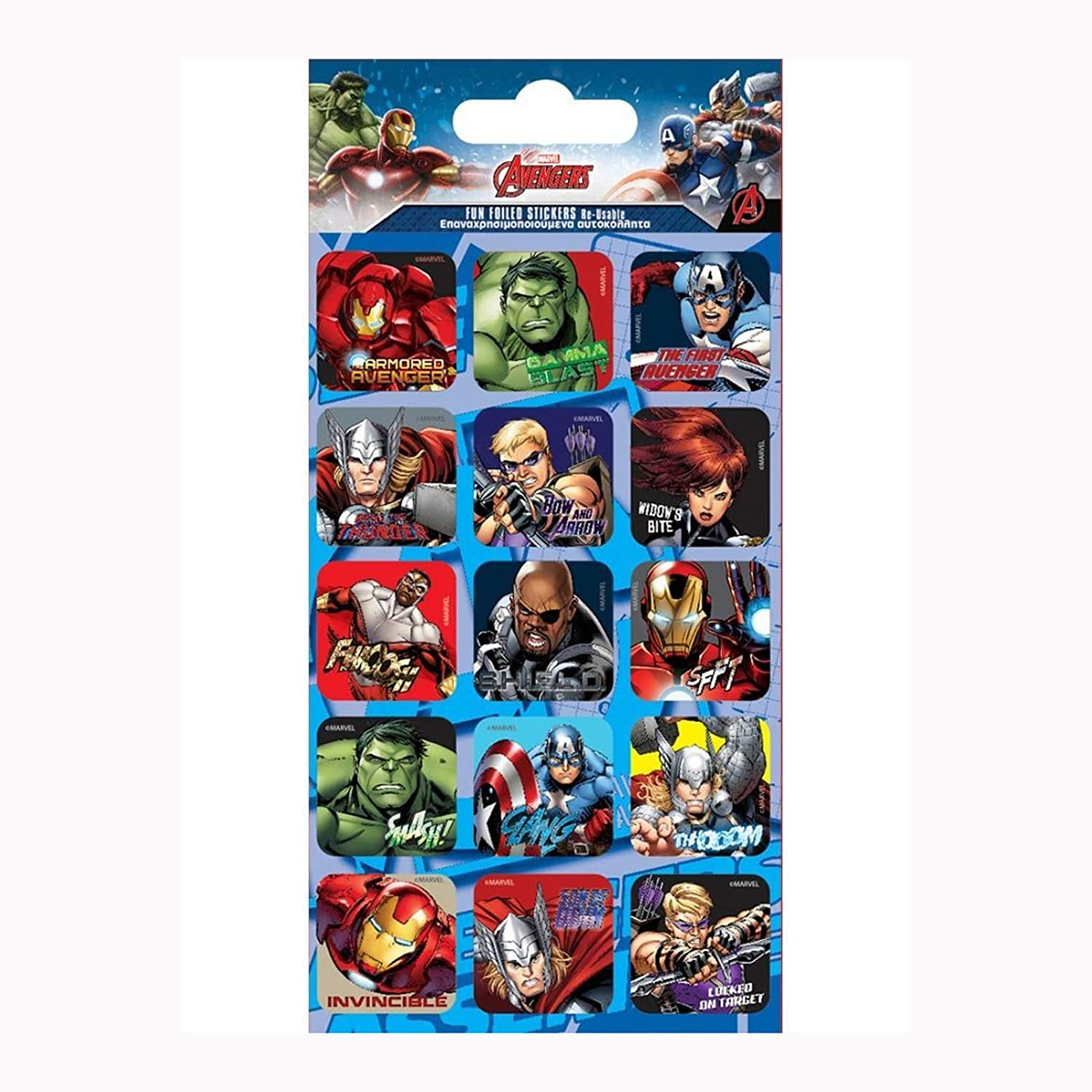 Marvel Justice Double Duvet Cover Set + Free Small Foil Stickers Character World