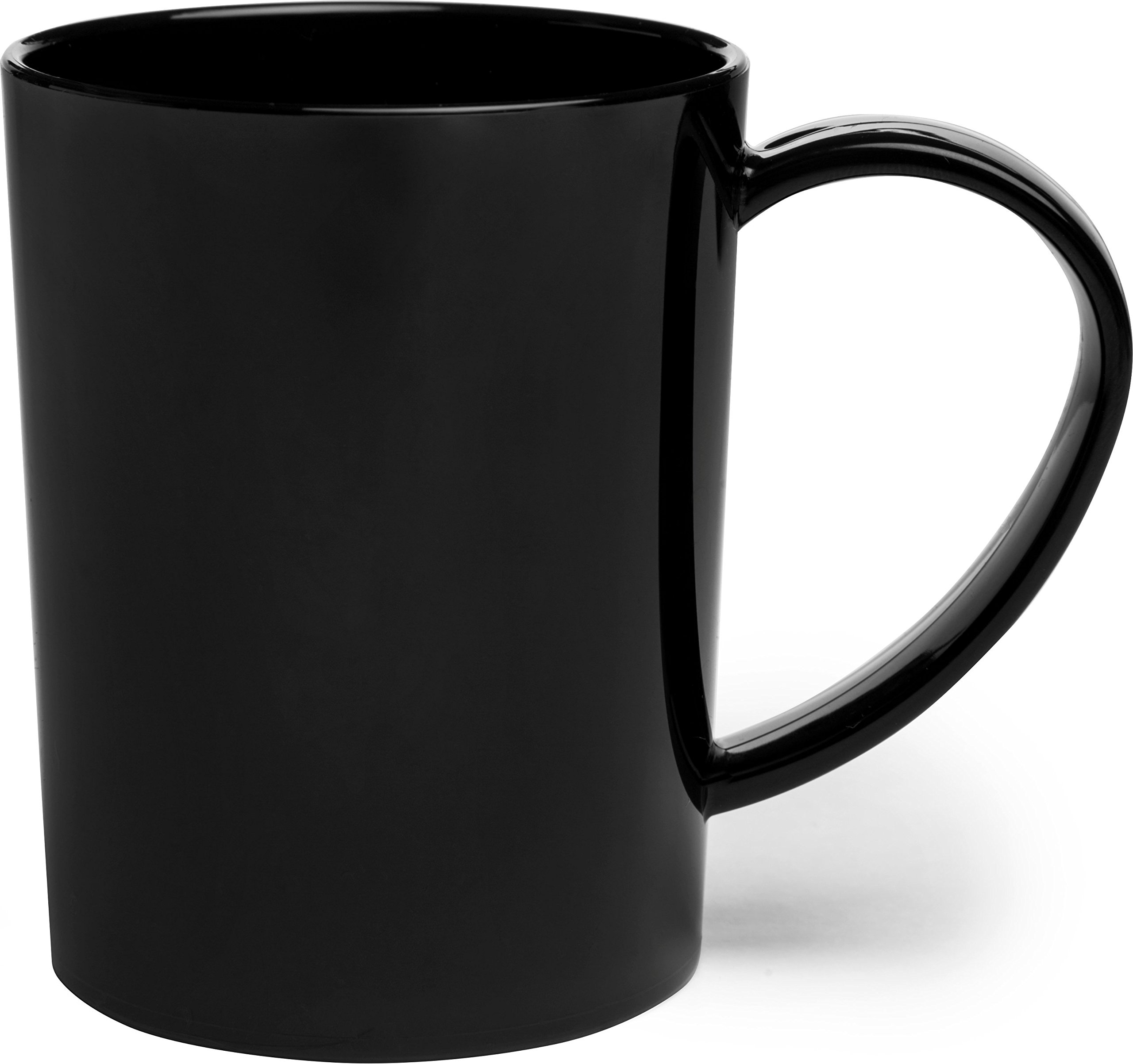 Carlisle 4306603 Break-Resistant Tritan Coffee Mug, 8 oz, Black (Pack of 12)