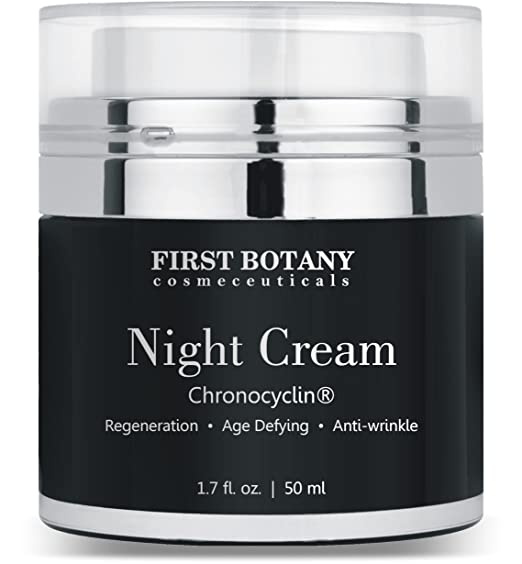 Advanced Night Repair Cream and Best Retinol Moisturizer 1.7 fl. oz. with Chronocyclin, Retinol & Echinacea Stem Cells - An Anti Aging Treatment and Daily Moisturizer Cream for Men and Women