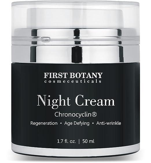 Advanced Night Repair Cream and Best Retinol Moisturizer 1.7 fl. oz. with Chronocyclin, Retinol & Echinacea Stem Cells - An Anti Aging Treatment and Daily Moisturizer Cream for Men and Women